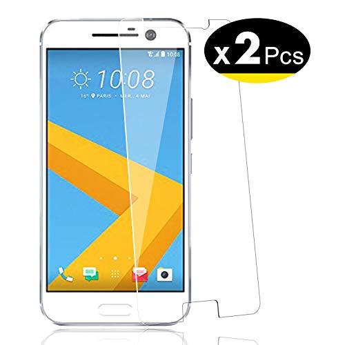 NEW'C 2 Stück, Schutzfolie Panzerglas für HTC One M10, Frei von Kratzern, 9H Festigkeit, HD Bildschirmschutzfolie, 0.33mm Ultra-klar, Ultrawiderstandsfähig