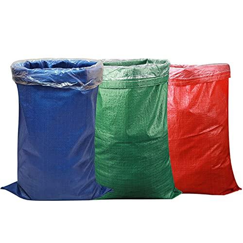 XXIOJUN Bolsas de Polipropileno for construcción de Alta Resistencia , Sacos de construcción de escombros Tejidos , Saco de Almacenamiento de residuos, Impermeable y a Prueba de Humedad