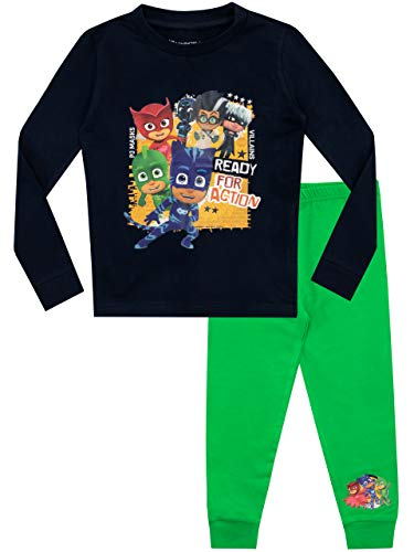 PJ Masks Jungen Schlafanzug Slim Fit Mehrfarbig 122