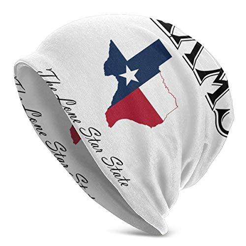 Texas Lone Star State Sleep Hedging Hat Gorros Cap Cozy Skull Knit Headgear