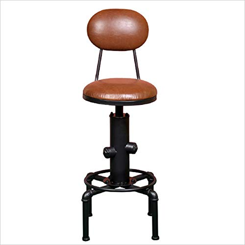 HRFHLHY Industrial style bar Kruk vintage ijzer Riem rugleuning Barkruk casual kinderstoel voorstoel