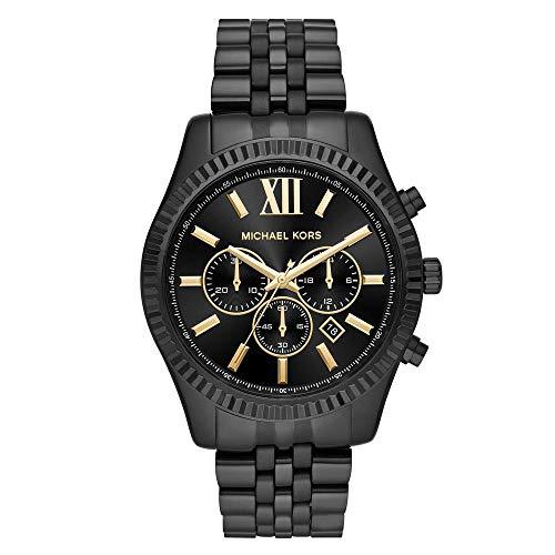 Relógio Michael Kors Feminino Ref: Mk8603/1pn Cronógrafo Black