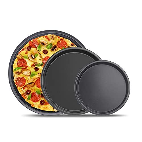 Piedra para pizza PIZZA PIEDRA PIZZA PEEL, 6 7 8 pulgadas antiadherente pizza pizza de pizza de acero al carbono placa de pizza redonda plato profundo pizza pan bandeja para hornear pastel de pastel d