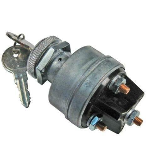 Ignition Switch 12 Volt 30 Amp Compatible with New Holland L180 L150 LX665 LX485 L865 L783 L185 L565 LS190 LX865 LS160 LS170 L160 C185 L170 LS180 LS140 C190 C175 LX565 LX885 L190 L175 LS150 L785 Case