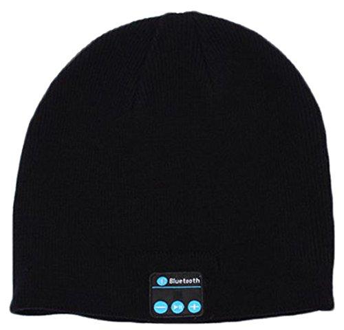 iSuperb Bluetooth muts hoofdband voor dames en heren wintergebreid sport zwart