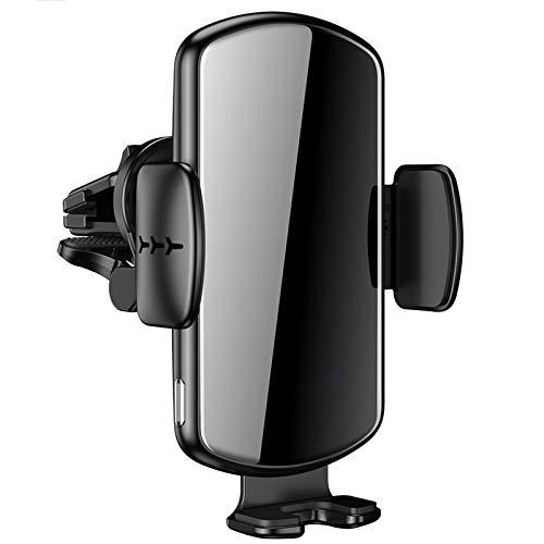 DONGBALA Montaje del Cargador de Coche inalámbrico rápido, Soporte de teléfono de la operación de una Sola Mano de 15W, Compatible con iPhone 11 Pro MAX/XR/XS MAX/X / 8