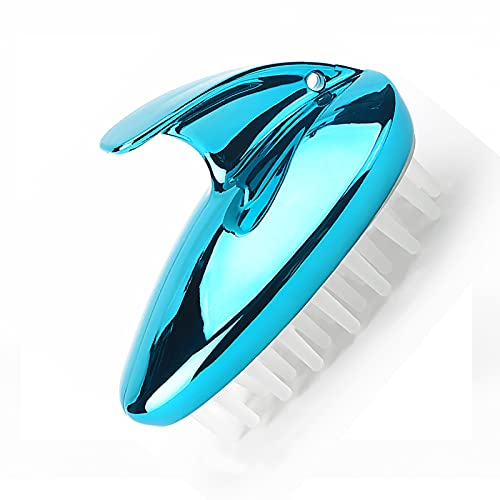 Scalp Massager Shampoo Brush, Wet and Dry Hair Stress Relax Scalp Exfoliator Hair Brush, Soft Silicone Bristles Shower Scalp Head Scrubber for Hair Growth(Size:2pcs,Color:Blue)
