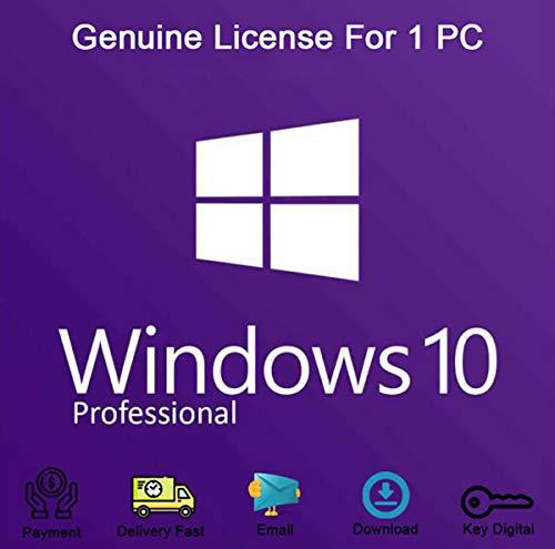 Windows 10 Professional 32 Bit und 64 Bit, Produkt Lizenzschlüssel, OEM, 100% Aktivierungsgarantie [Per E-Mail und Amazon Message]