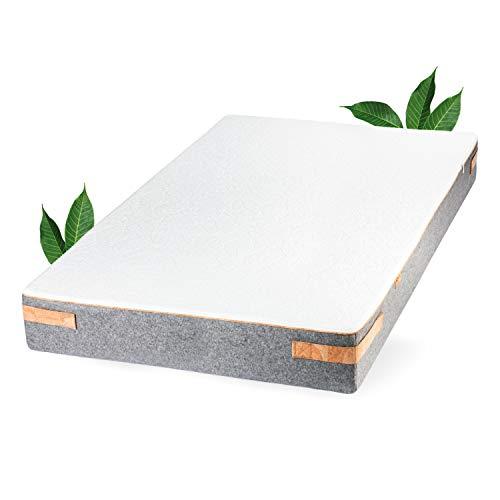JONA SLEEP Naturlatex Matratze (160 x 200 cm) Pure - H2 - Weich, Natur-Matratze mit 7 Zonen für Allergiker-Geeignet - Öko Tex 100 - LGA gestesteter Kern (160x200 cm)