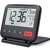 NOKLEAD Reloj Despertador Digital de Viaje - Mini Reloj Pantalla LCD portátil Calendario...