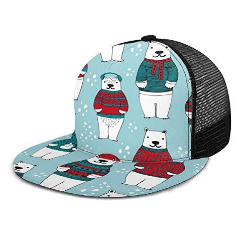 FunnyStar Polar Bears in Truien Verstelbare Cowboy Denim Hoed Unisex Hip Hop Baseball Caps