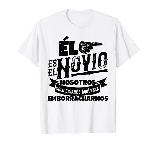Hombre Despedida de soltero, set de camisetas, 3/3 Él es el novio Camiseta