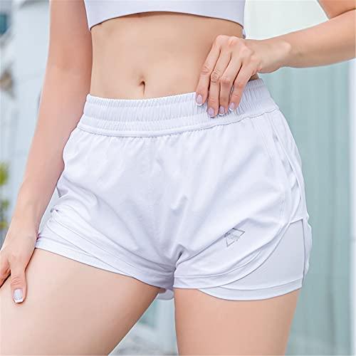 Shorts Deportivos Para Mujer Pantalones cortos de deportes de verano Mujeres corriendo secado rápido adelgazamiento pantalones cortos de yoga sueltos anti-vacíos fitness pantalones cortos