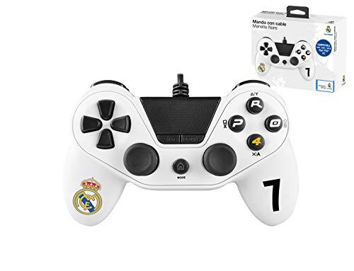 Mando con cable Pro4 controller para consola PS4 / Slim/ Pr - PC -PS3 - Accesorios de videojuegos Real Madrid