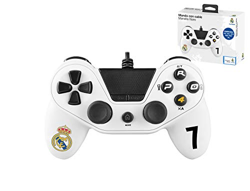 Mando con cable Pro4 controller para consola PS4 / Slim/ Pr - PC -PS3 - Accesorios de videojuegos Real Madrid