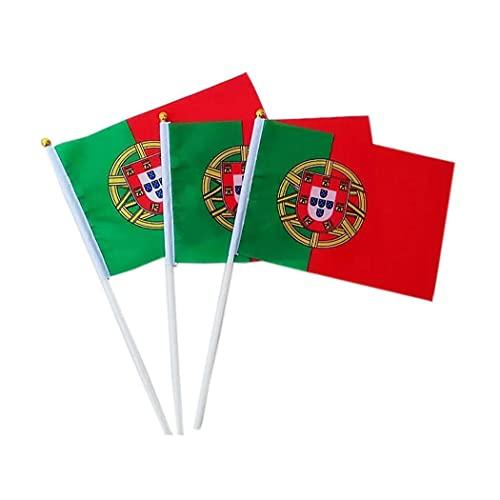 Bandera palillo de Portugal Portugal Durable portátil Mini Bandera resistente a la decoloración Banderas Nacional, Portugal Bandera portátil