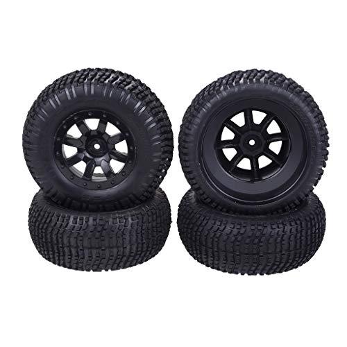 Bonarty 4 Teile / Satz 1/10 Short Course LKW Reifen Reifen Für Slash HPI VKAR Redcat HSP LRP RC Modellauto 45mm Breite Einfach Zu Montieren