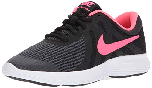 Nike Damen Revolution 4 (Gs) Laufschuhe, Schwarz (Black/Racer Pink/White 004), 36 EU