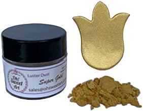 SUPER GOLD Luster Dust ( 4 grams each container) Gold luster dust, by Oh! Sweet Art Corp