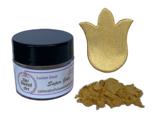 SUPER GOLD METALLIC Luster Dust 4 Oh store each High order container grams By