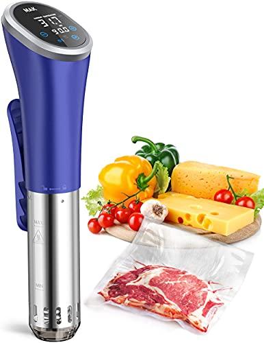Sous Vide MAK Slow Cooker Macchina Roner IPX7 Impermeabile, Silenzioso Circolatore Termico di Immersione, 850W Controllo Preciso Cucina Professionale per Cottura a Bassa Temperatura con Ricettario