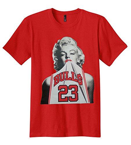 PubliciTeeZ Men's Marilyn 23 Michael T-Shirt (3XL, Red)