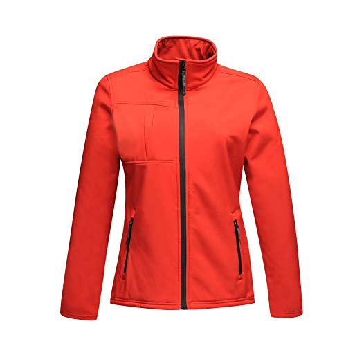 Regatta Damen Women's Octagon II 3 Layer Membrane Softshell Jacke, Rot (Classic Rot/Schwarz), 40