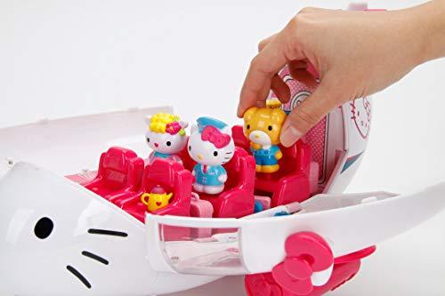 Dickie Toys Hello Kitty Flugzeug Spielset, Passagierraum kann geöffnet werden, viel Zubehör, inkl. 3 Hello Kitty Figuren, 36,5 cm, ab 3 Jahren