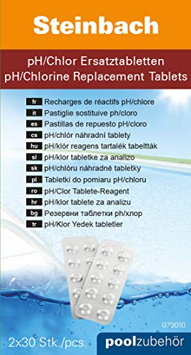 Steinbach Wassertester pH / Chlor Ersatztabletten, je 30 Stück Tabletten, 079010