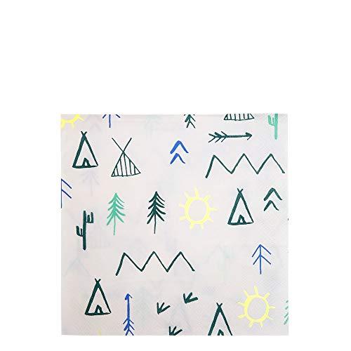 Lot de 20 serviettes en papier Indiens Explorons - Meri Meri