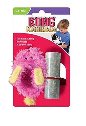 KONG - Refillables Fuzzy Slipper Cuddle Toy - North American Premium Catnip