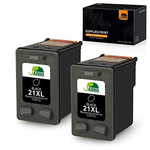 JARBO Remanufactured HP 21XL 21 XL Druckerpatronen (2x Schwarz) mit hoher Reichweite für HP Deskjet 3940 D1530 F2280 D2360 D2460 D1460 F2180 F380 F4180 HP Officejet 4315 HP PSC 1410