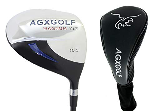 AGXGOLF Ladies Magnum 460cc Regular Length (44 inch) 10.5 Degree Driver wLady Flex Graphite Shaft with Head Cover, Made in USA!