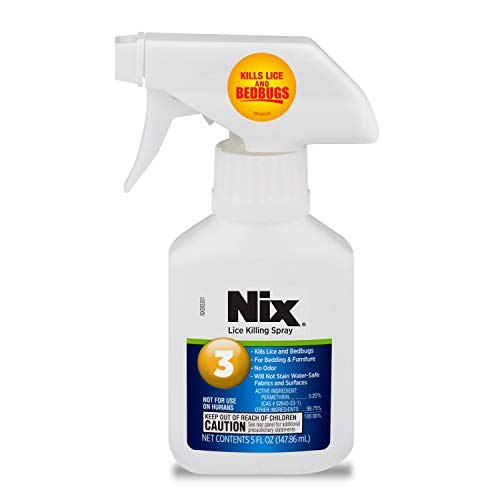 Nix Lice & Bed Bug Killing Spray for Home, Bedding & Furniture, 5 fl oz