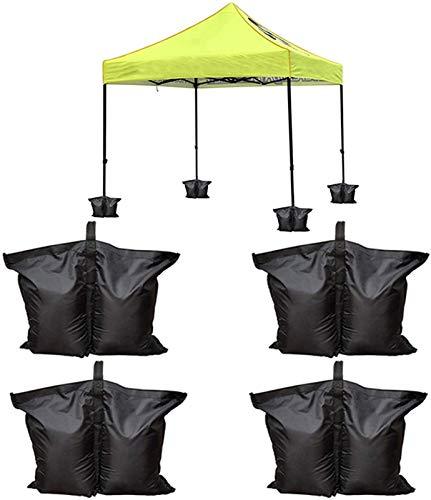 Bolso de Peso de 4 Packs Gazebo, Bolsa de Pies Pesos Pesada para Pop Bag para Pop Up Telop Tent, Patio Paraguas, Arena Excluida