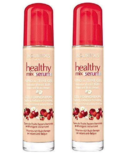 2x Bourjois Healthy Mix Serum Gel Foundation, 52 Vanilla, 30ml, New & Sealed