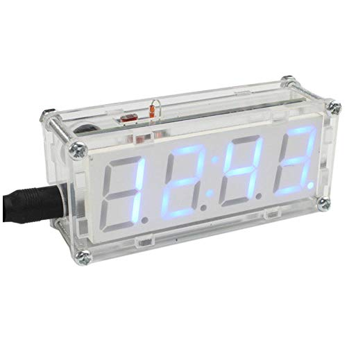 DIY LED Kit Microcontroller Digitale Buis Klok met Thermometer Uur Chime Functie DIY Kit Module Elektronische Klok
