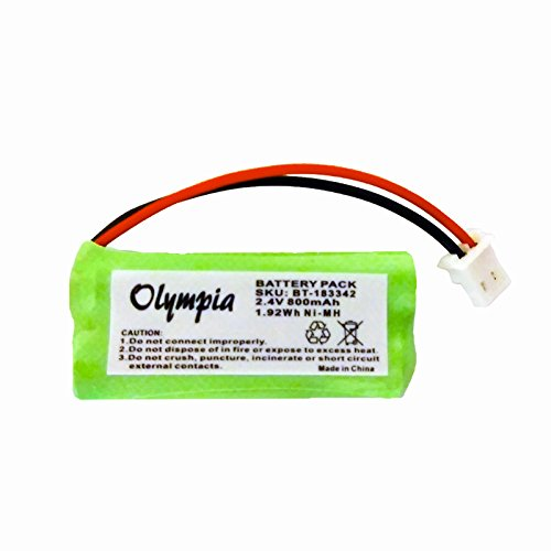 Replacement Battery for AT&T CRL81212 Cordless Phone (800mAh, 2.4V, NI-MH)