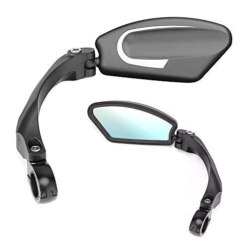 Handlebar Bike Mirror, 2 PCS Bicycle Mirrors Rear View Bar End of Handlebar Cycling Mirror Adjustable Shockproof for Mountain Bike Recumbent Trikes