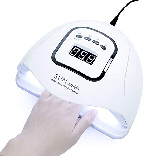 Moerc LED nagel Lamp Nail Phototherapy Machine 120W LED UV Nail Dryer 45 Lamp kralen met LED-display en Timer Countdown sneldrogend Lamp Tool Set Professional for Nail Art At Home And Salon