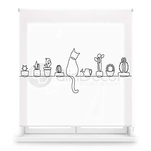 Blindecor Estor Enrollable translúcido Cocina, Cat, 150 x 180 (Ancho x Alto)