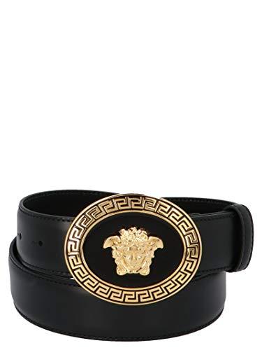 Luxury Fashion | Versace Heren DCU4949DVTP1D41OH Zwart Leer Riemen | Seizoen Permanent
