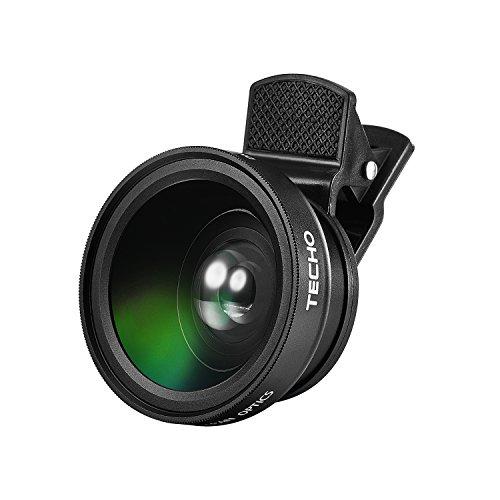 Techo universale professionale HD kit obiettivo per iPhone 7/6s Plus/6s/5S, cellulare (0.45x super grandangolo, 12.5x super macro lens)