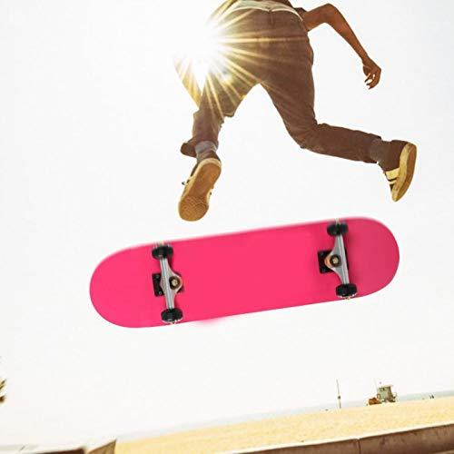 FOLOSAFENAR Sport-Skateboard ABEC-9 Chromstahllegierung Allrad-Skateboard-Silentlager für Skateboard-Liebhaber mit blinkendem Rad für Sport(Pretty, 79 * 10 * 20)