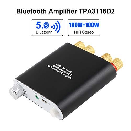 Amplificador Bluetooth 5.0 Mini HiFi Stereo 2.0 TPA3116D2