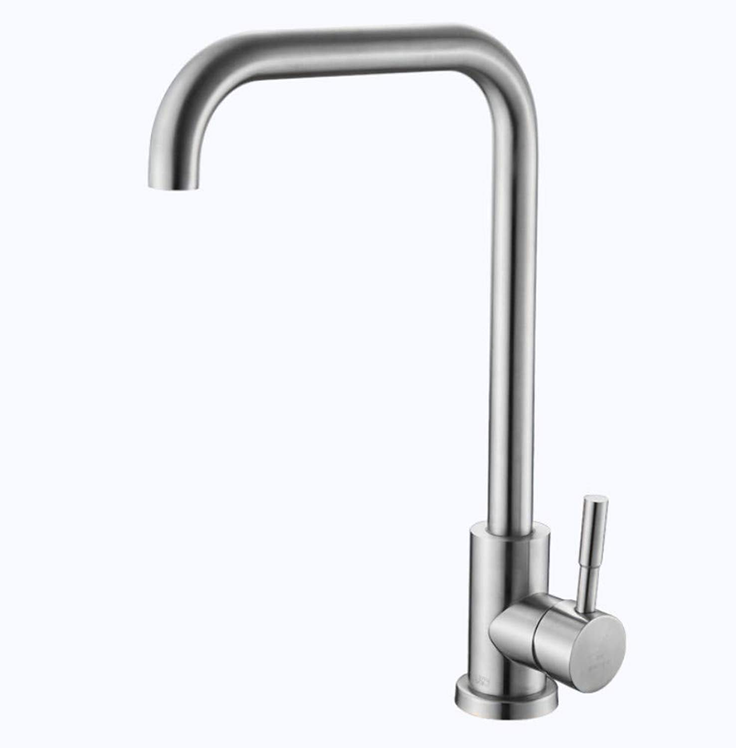 Kitchen Faucet Dishwasher Faucet Cold and Hot Water Tank Ceramic Spool 304 Stainless Steel redary Faucet