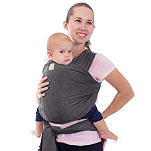 Fular portabebés - Fular portabebés elástico todo en 1 - Portabebés lateral - Mochila Portabebés - Fular para bebés - Fular portabebés manos libres - El mejor regalo de Baby Shower (Mystic Gray)