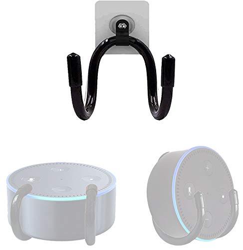 1Pack Wall Mount Bracket Hanger Holder Stand Clip - Adjustable Size - Great for Echo Dot (1st Gen) Echo Dot (2nd Gen) Echo Dot (3rd Gen) - No Echo Smart Home Speaker Included - No Drilling