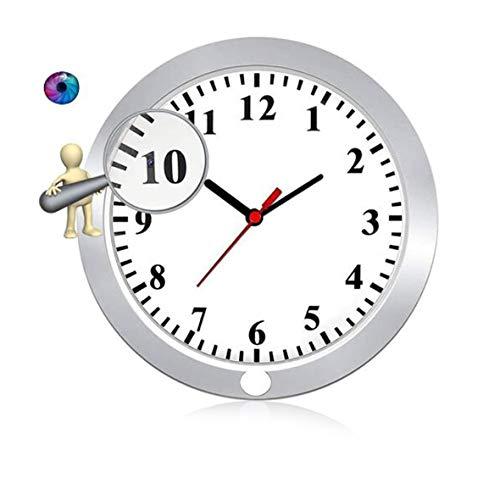 GEQWE Cámara con Reloj WiFi, Cámara Grabadora De Video De Seguridad Inalámbrica 1080P HD con Visión Nocturna/Detección De Movimiento/Grabación En Bucle, para Vigilancia del Hogar
