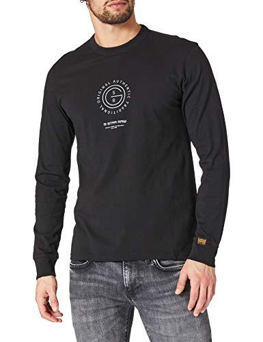 G-STAR RAW Mens Reflective Multi Graphic T-Shirt, dk Black 336-6484, M